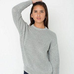 American Apparel Metallic Fisherman's Sweater